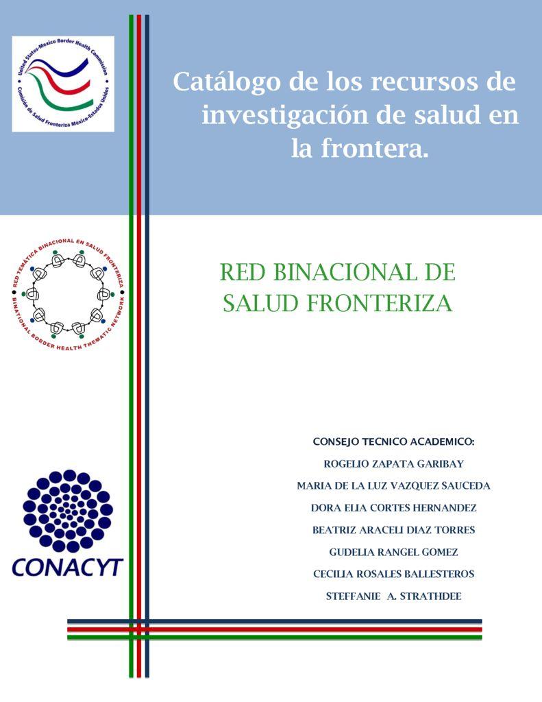 thumbnail of catalogo-de-los-recursos-de-investigacion-en-salud-fronteriza