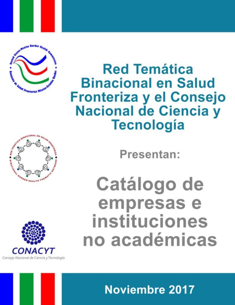 thumbnail of Catálogo de Empresas e Instituciones no Académicas