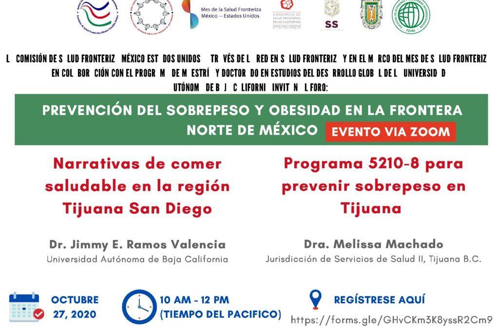 Foro «Prevención del sobrepeso y obesidad en la frontera norte de México»