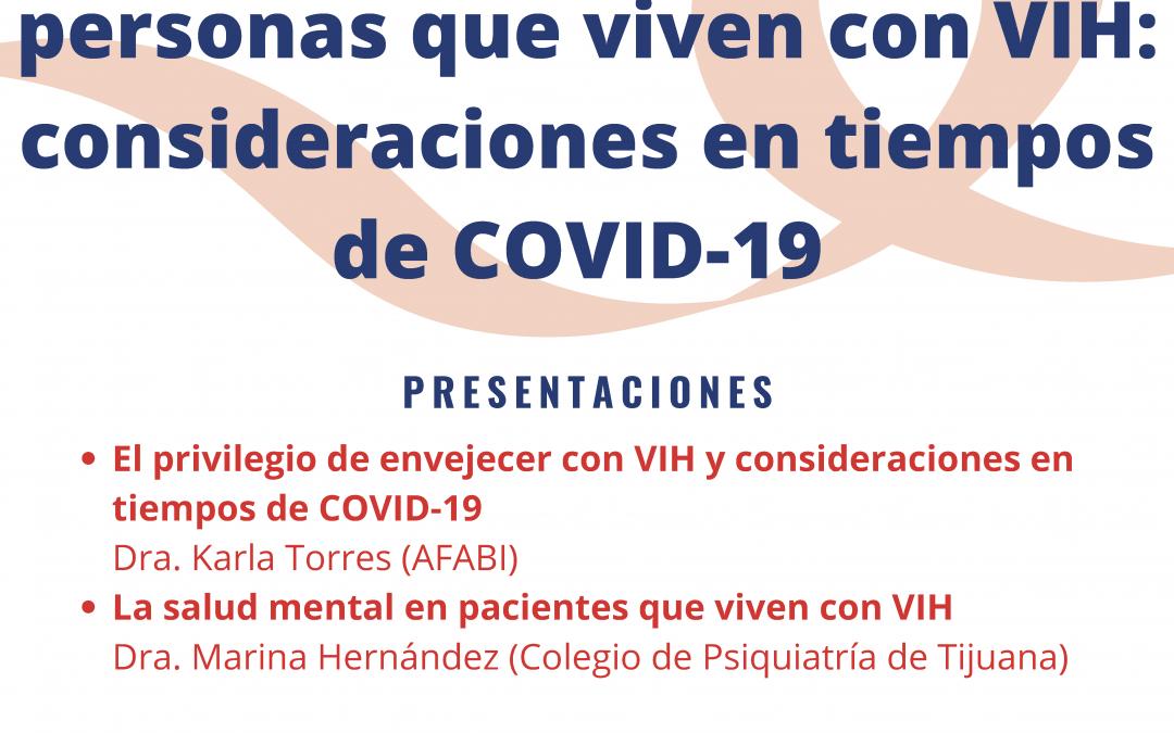 Recordatorio: Foro «Salud física y emocional de personas que viven con VIH: consideraciones en tiempos de COVID-19»